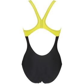 arena Spirit Swim Pro Back Jednoczęściowy strój kąpielowy Kobiety, black/soft green